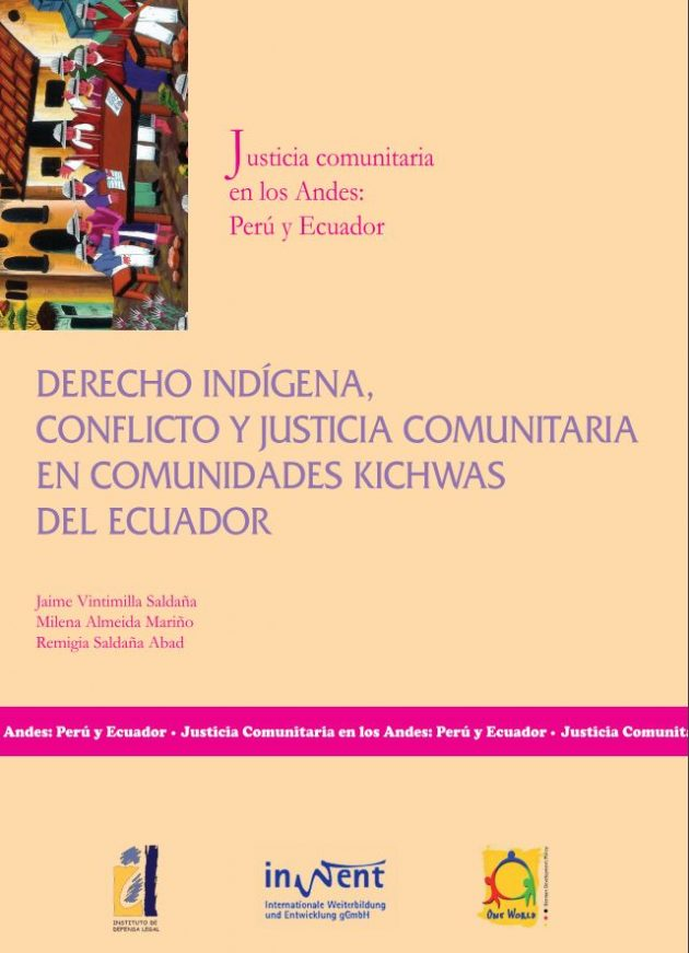 Derecho indígena, conflicto y justicia comunitaria en comunidades kichwas del Ecuador
