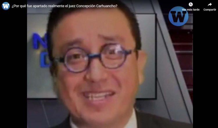 """Glatzer Tuesta: """"¿Por qué fue apartado realmente el juez Concepción Carhuancho?"""""""