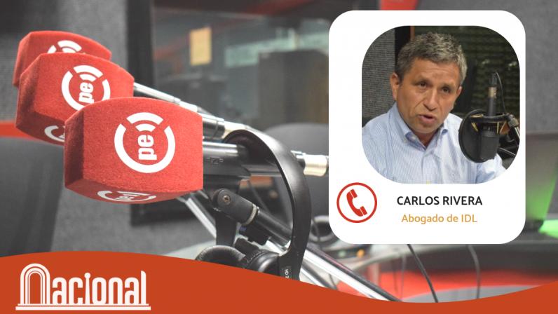 """Carlos Rivera: """"Acuerdo con Odebretch evidenciará a los destinatarios del dinero de la corrupción"""""""