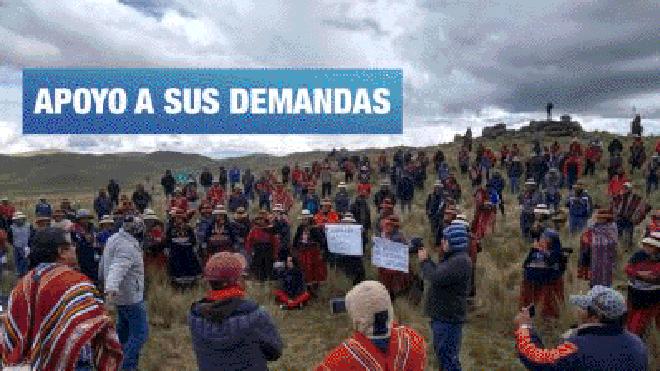 Lima se suma a la protesta contra Las Bambas