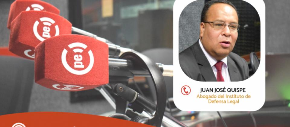 """Juan José Quispe: """"Procedería la pérdida de dominio"""" (Radio Nacional)"""