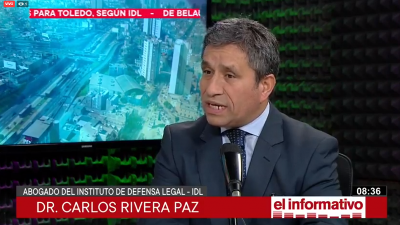 """Carlos Rivera: """"Odebretch está obligada a colaborar en nuevas investigaciones"""" (Radio Nacional)"""