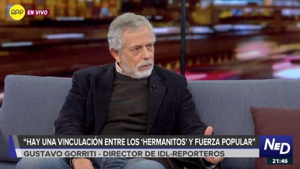 """Gustavo Gorriti dice que pérdida de eficiencia investigativa a 'Cuellos blancos' permitió una """"contraofensiva"""" de los acusados (RPP)"""