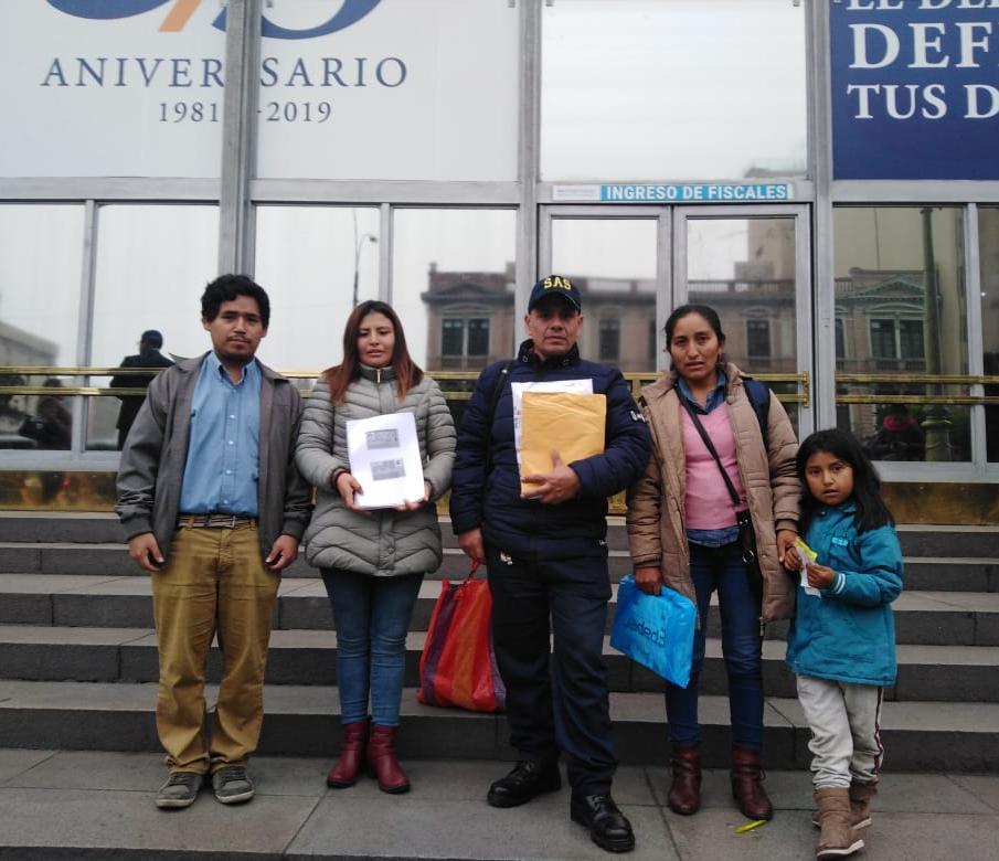 Comuneros de Urancancha demandan a la Primera Sala Penal Transitoria de la Corte Suprema Penal por no respetar sus derechos procesales