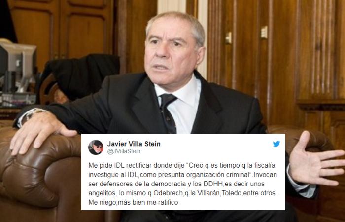 Por no rectificarse, IDL denuncia penalmente a Javier Villa Stein (Lucidez)