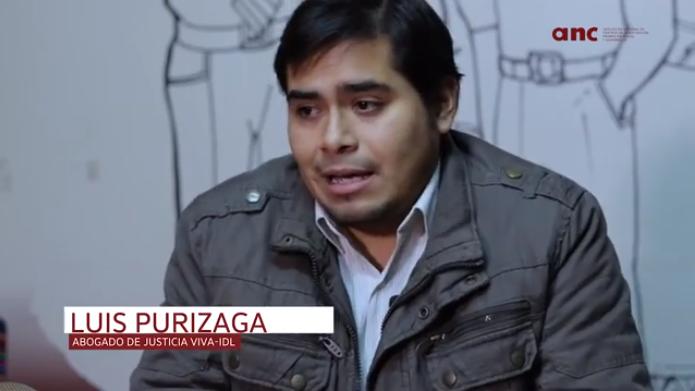 """Luis Miguel Purizaga: """"Es importante fiscalizar y denunciar, pero también trabajar con los buenos elementos del sistema de justicia"""""""
