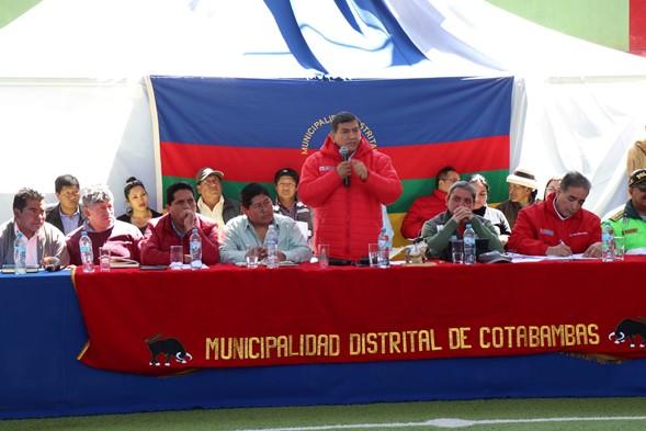 Ministro del Interior se compromete a revisar convenio entre la PNP y la empresa minera Las Bambas