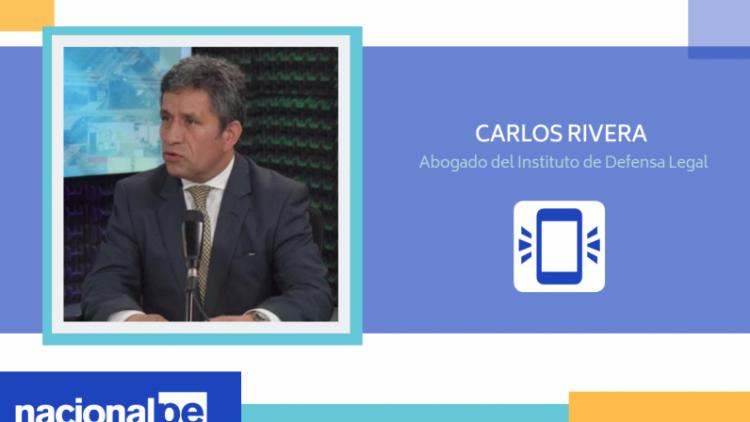 """Carlos Rivera: """"Fiscal Domingo Pérez debe iniciar investigación contra Villanueva"""" (Radio Nacional)"""