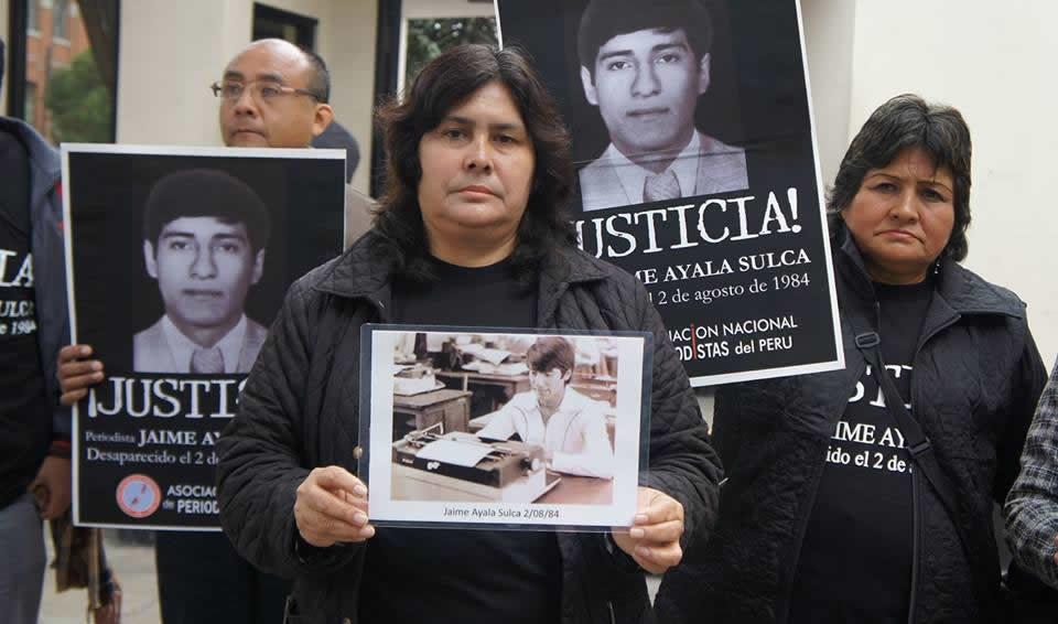 Periodista Jaime Ayala: 35 años buscando justicia (La República)