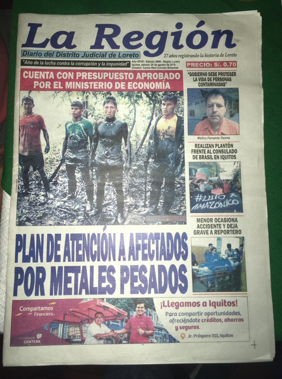 Comunidades nativas logran judicialmente aprobación y financiamiento del primer plan de salud de atención a los afectados por derrames de petróleo en el Perú