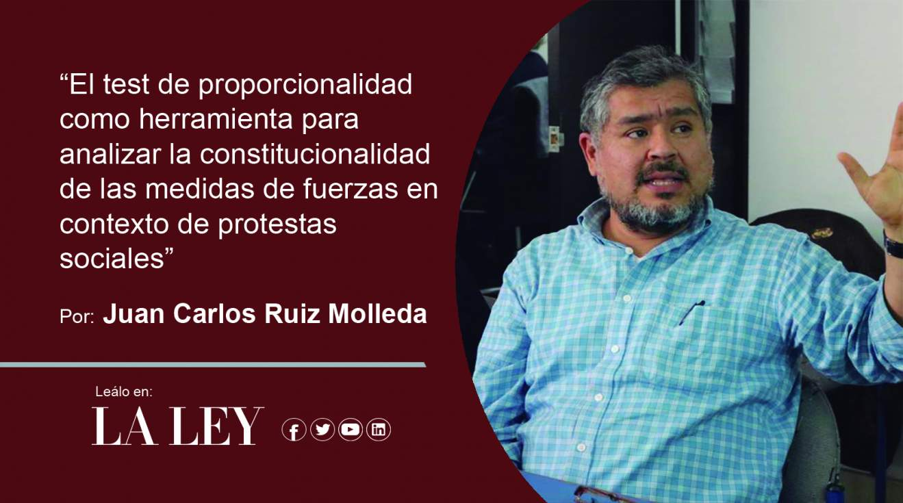 El test de proporcionalidad como herramienta para analizar la constitucionalidad de las medidas de fuerzas en contexto de protestas sociales (La Ley)