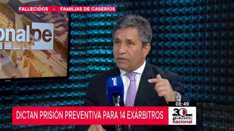"""Carlos Rivera: """"Árbitros relacionados con Odebretch han generado un mega caso"""" (Radio Nacional)"""