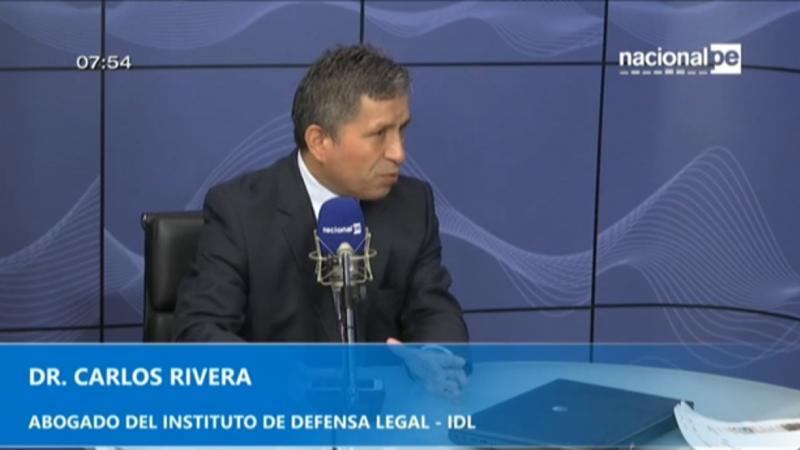 """Carlos Rivera: """"Demanda es una estrategia de Odebretch para tener una palanca de negociación"""" (Radio Nacional)"""