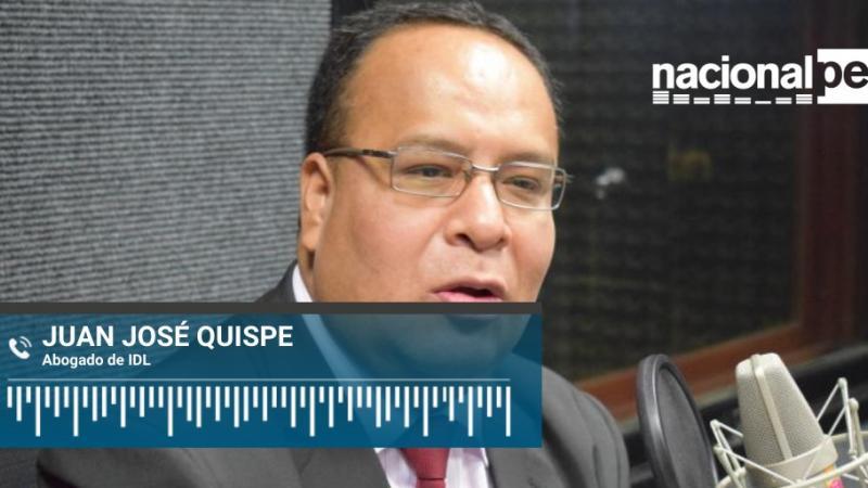 """Juan José Quispe: """"A Castañeda le bastó presentar informe de una clínica para obtener arresto domiciliario"""" (Radio Nacional)"""
